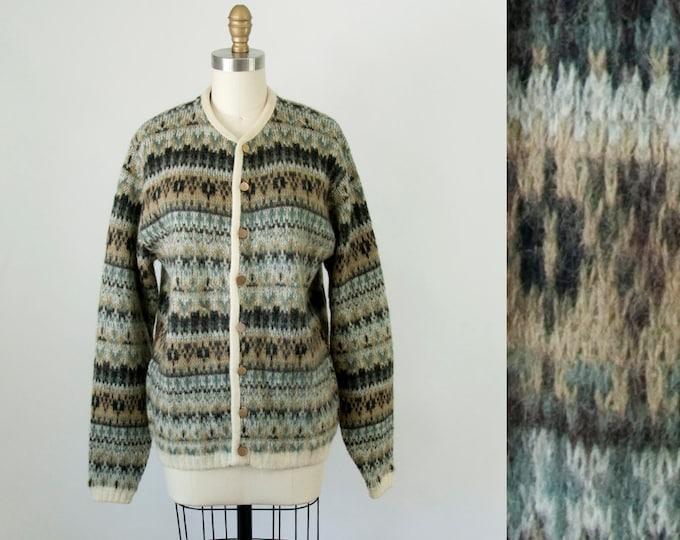 60s Vintage JANTZEN Mohair Cardigan. 60s Jantzen Wool Sweater. (M, L)