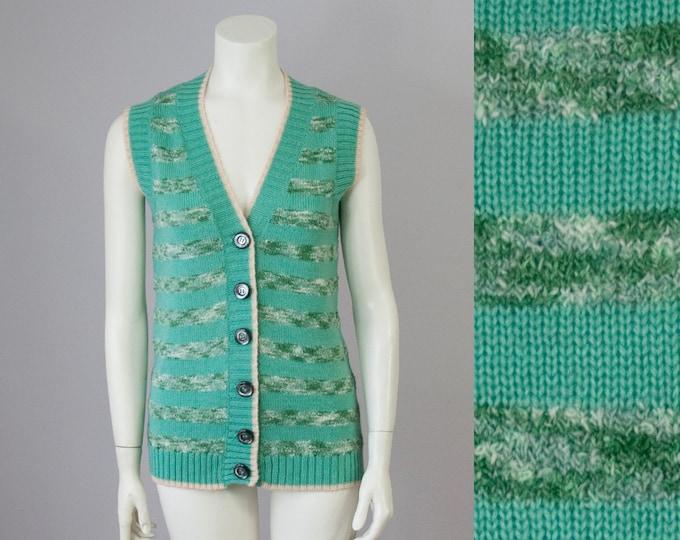 70s Vintage LA SQUADRA Paris Montecarlo designer sweater vest made in Italy (S, M)
