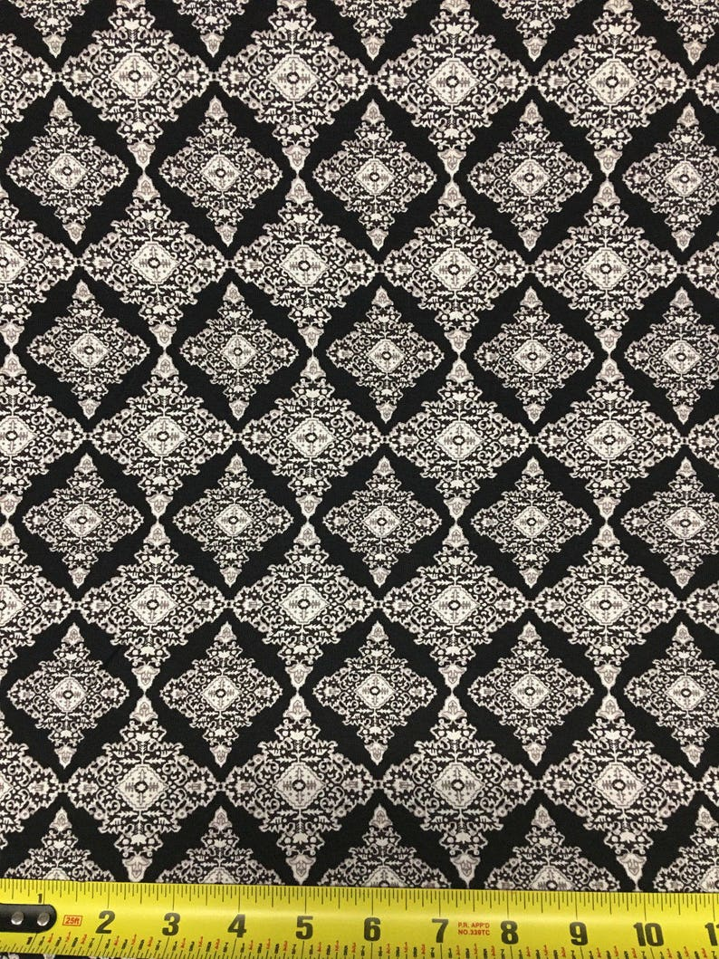 d9c88751ac2 Viscose Spandex Jersey Print Knit Fabric Beautiful Geometric | Etsy