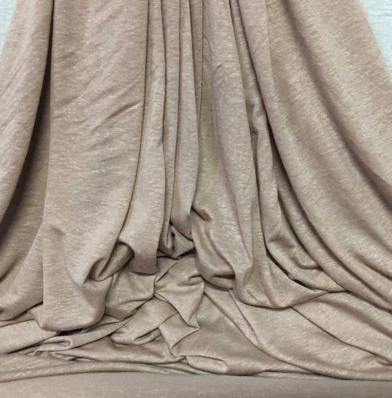 Linen Tencel Luxurious Japanese Knit Drapey Jersey fabric semi-sheer Sunset