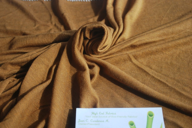e03d292e599 Micro Modal Silk Sheer Knit Jersey Rusty by the yard | Etsy