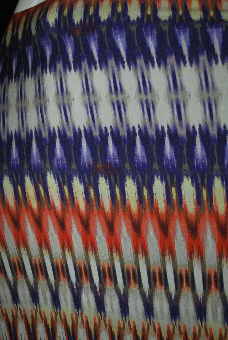 a2abd5c4c90 Viscose Spandex Jersey Print Knit Fabric Beautiful Border   Etsy