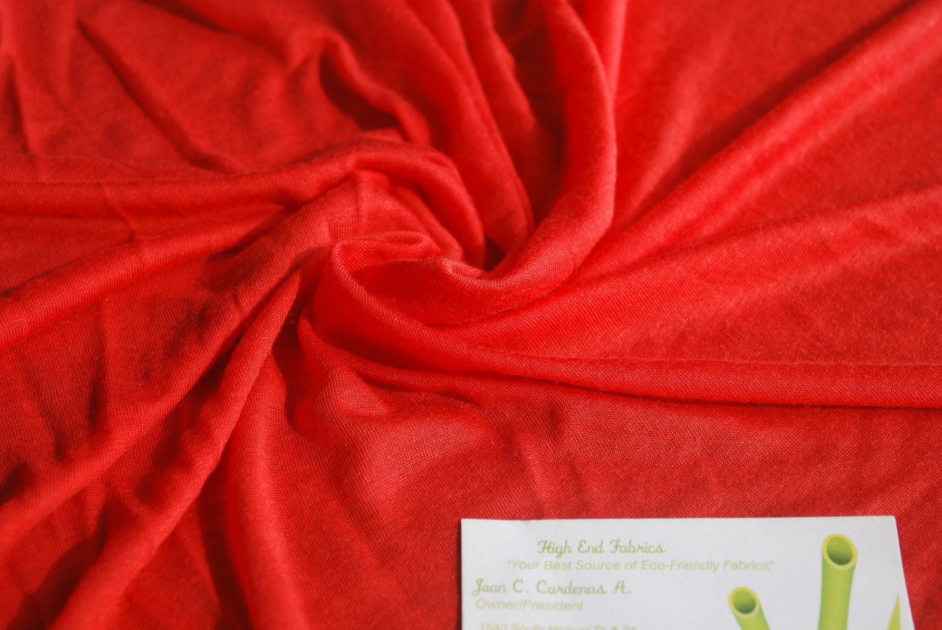 141582c7f4c Micro Modal Silk Sheer Knit Jersey DK Tomatoe Red by the yard | Etsy