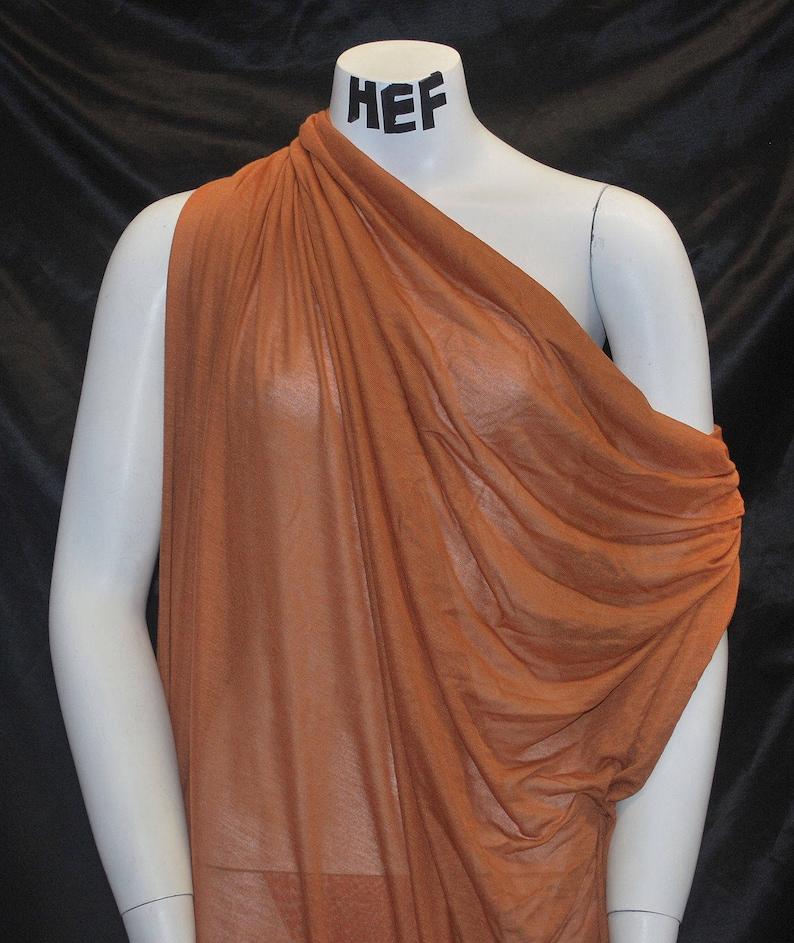 5926406ef99 Micro Modal Silk Jersey Sheer Knit Fabric Ecofriendly natural | Etsy
