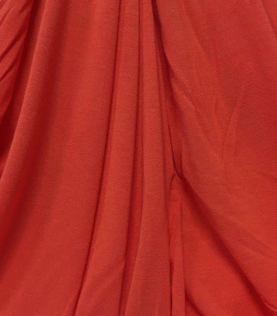 "Modal Spandex Jersey knit fabric Ecofriendly Large 5/"" Stripes Turq//kelly white"