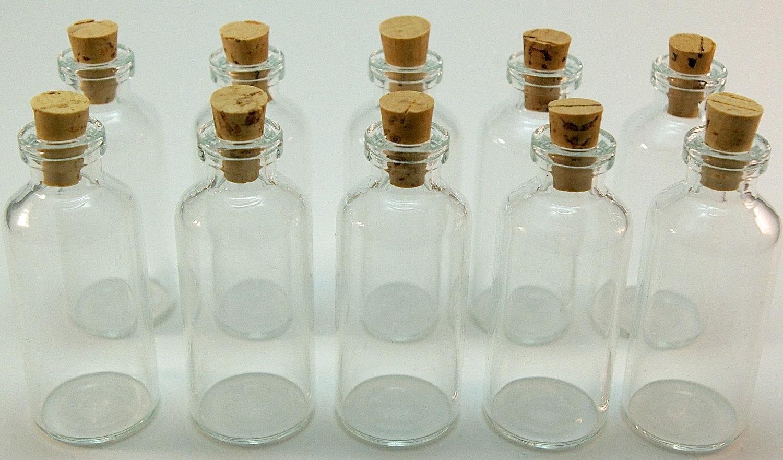 20 Mini Glass 10 ml Bottles with Corks- DIY Wedding & Shower Favors ...