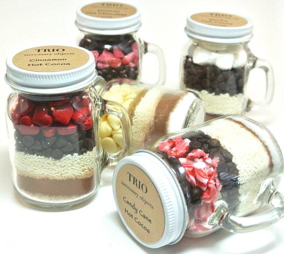 Hot Chocolate Favor 12 Mini Mason Jar Mugs Hot Cocoa Winter Etsy