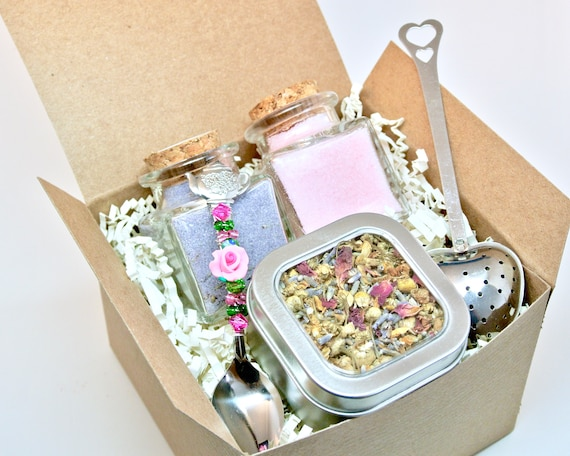 Kräuter Tee Geschenk Set Mit Lavendel Und Rose Petal Zucker
