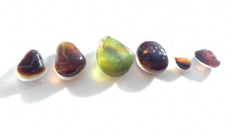 Collectors Seaglass  Set of Autumn Shade sea glass drops  image 0