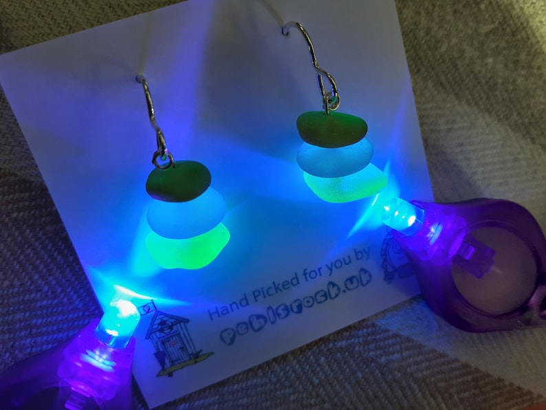 Seaham Sea Glass stack earrings suspended from image 0