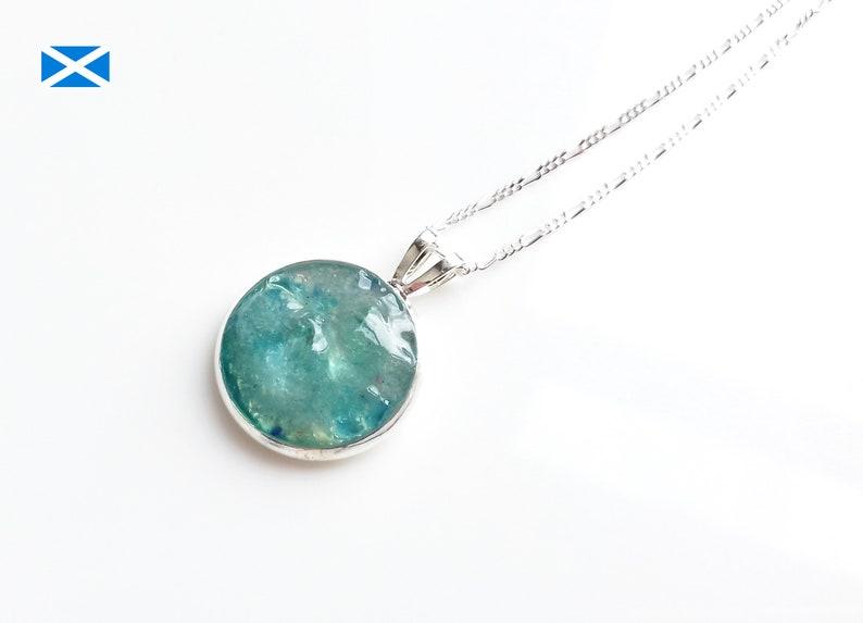 Scottish Sea Glass Pendant of Light Turquoise image 0