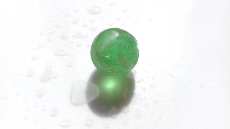 Bright Green swirl marble  M3047  from Seaham beach  UK image 0