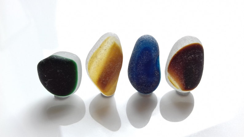 Collectors Seaglass  Superb collection of four Seaham image 0