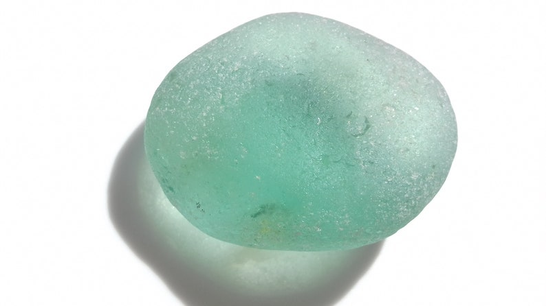 Collectable Large Aqua Blue Seaglass  almost flawless  M3014 image 0