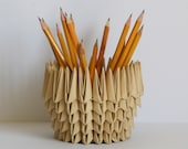 Origami / Pencil Holder / Home Décor / First Anniversary / Handmade / 1 Year Anniversary Gift / Paper Bowl / Paper Anniversary / Unique Gift