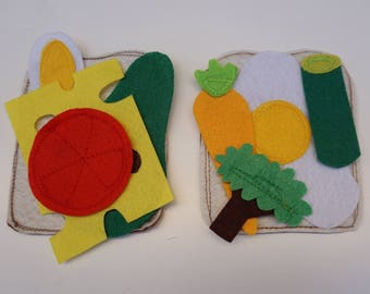 Making a Sandwich Quiet Book Page / Felt Activity Page / Birthday Gift For Toddler / Learning Toy / Unique Gift / Personalized /