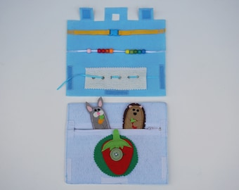 Fine Motor Suitcase / Travel Toy for toddlers / Gift for Kid / On the Go / Birthday Gift / Gift for Kid /Unique Gift /Quiet Book /Fine Motor