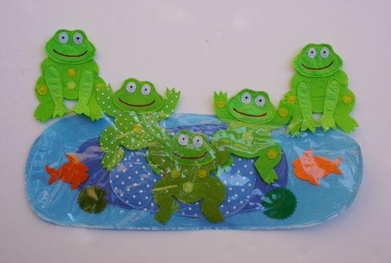 Pięć Małe Nakrapiane żabyprzedszkola Wierszyfilcu Pokładzie Song Setprzedszkolafilcu Historie Dla Preschoolersczuli Historiepieśni Filcu
