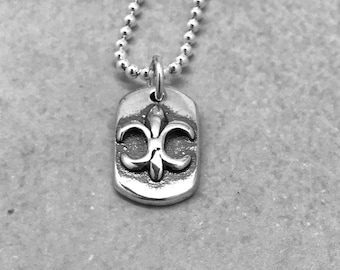 Fleur de lis Necklace, Sterling Silver, Everyday Jewelry, Handmade Necklace, Gifts for Her, Fleur-de-lis, French Inspired