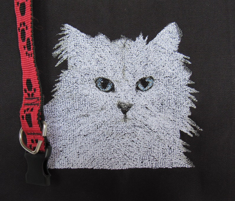 Embroidered Himalayan Cat, custom embroidery