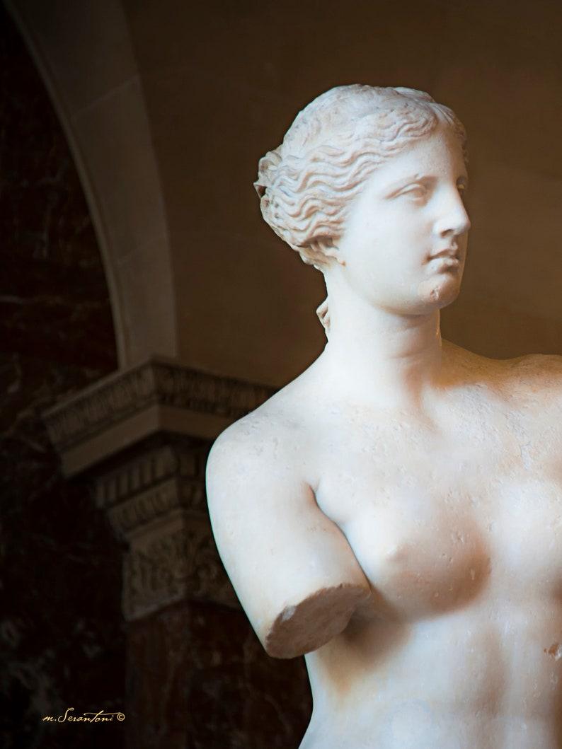 Paris photograph  Poetic Beauty  French sculpture  Goddess image 0
