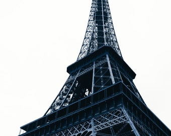 Postcard Set - Paris - Fine art photography - Eiffel Tower, architectural detail - black and white - affordable art gift - Wall art