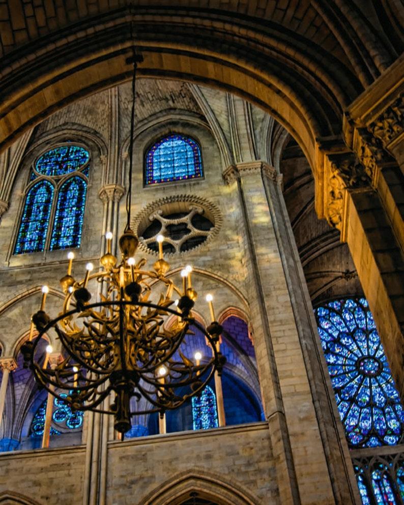 16 x 20 large art print  Evening at Notre Dame  Paris  Fine image 0