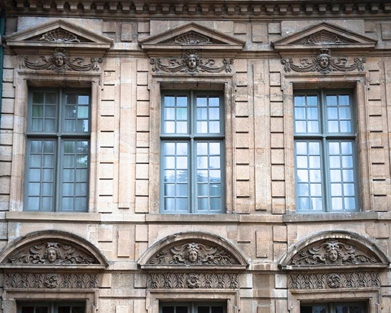 Paris Windowscape  Parisian Wall Print  French Decor  image 0