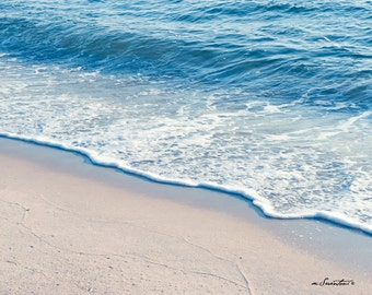 Perfect Morning Wave - CANVAS wrap - Cape Cod poster size canvas - Nature - Fine art travel photo - Beach photo - unisex gift, spa