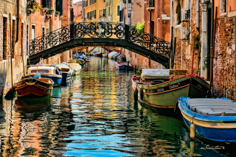 CANVAS wrap Bridge of Sighs  Venice poster size canvas  image 0