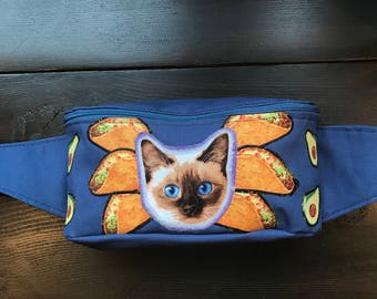 Taco Cat Fanny Pack Bum Bag Festival Pack