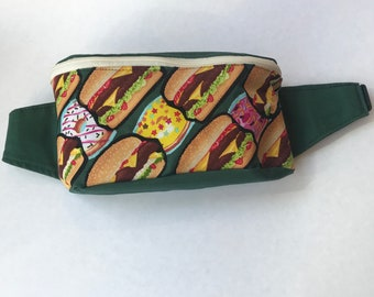 Burgers and Donuts Fanny Pack Festival Bag Bum Bag Hip Bag Sling Pack Purse Back Pack Marsupial Pouch