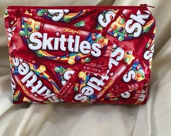 Skittles Print Makeup Bag