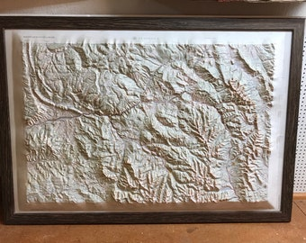 1960s Army Corps of Engineers Topographic Map of Leadville, Colorado in Custom Frame