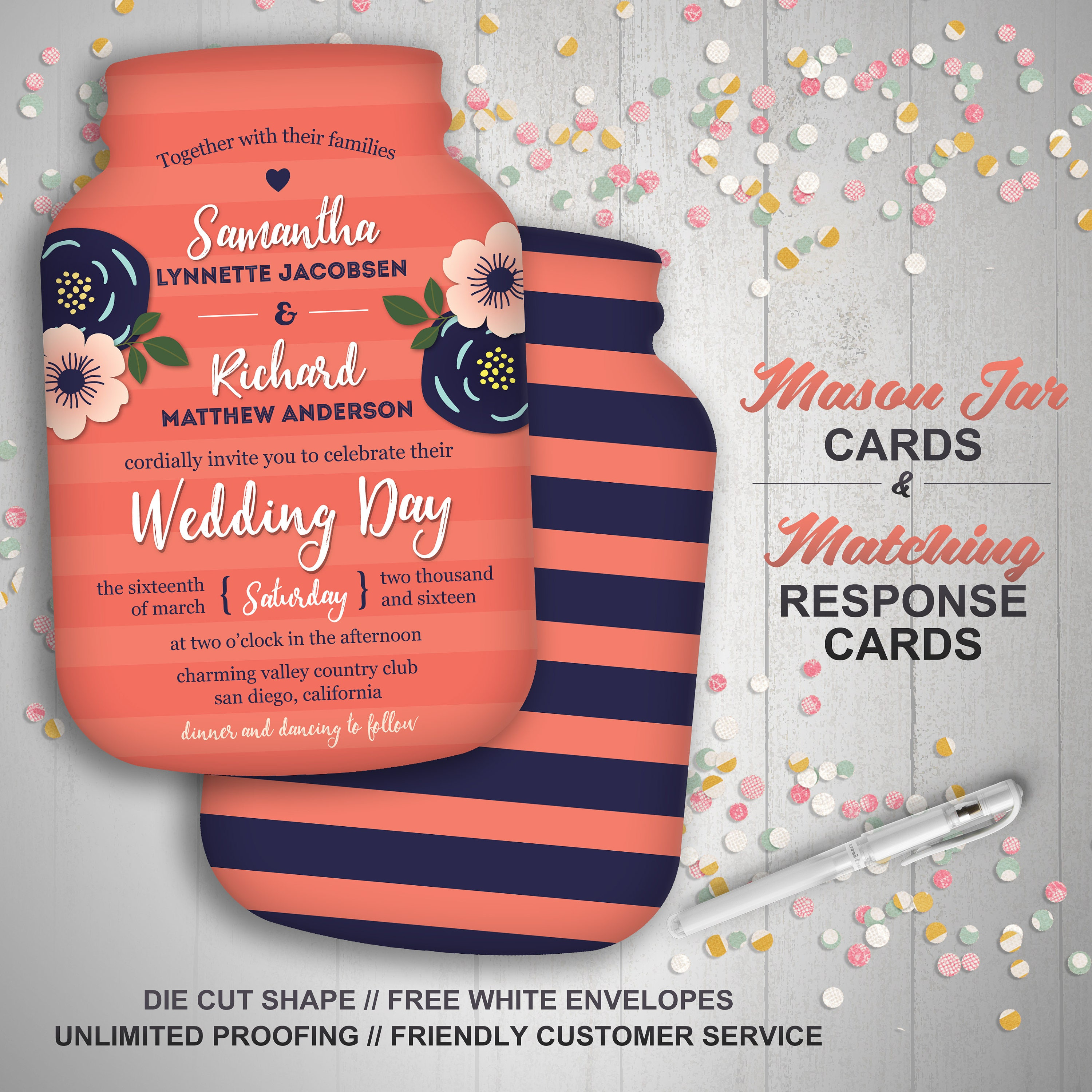 Perfect Bridal Shower Invitations Rustic Image Collection ...