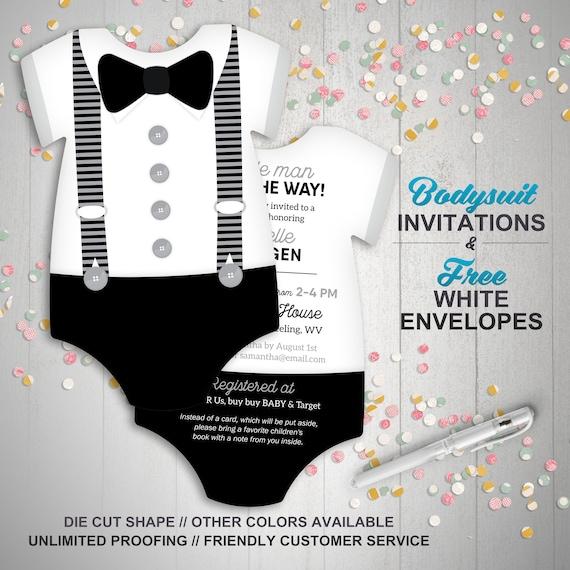 Boy Baby Shower Invitations Black   White Suspenders  821a04b7f8b