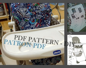 Pdf Patern Diy High Chair Cover Patron Et Tuto Pour
