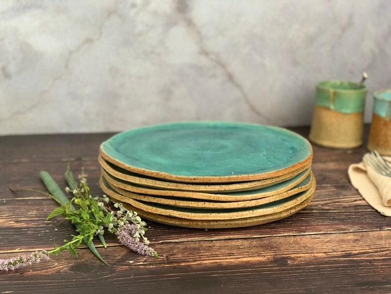 Ceramic Plates Dinner Plates Handmade Serving Plate of the image 0