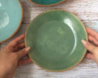 Stoneware Shallow Bowl, Handmade Pottery Bowl, Rustic Modern Ceramic Bowl for Pasta, Soup, Salad, Ramen Noodles - Ready to Ship