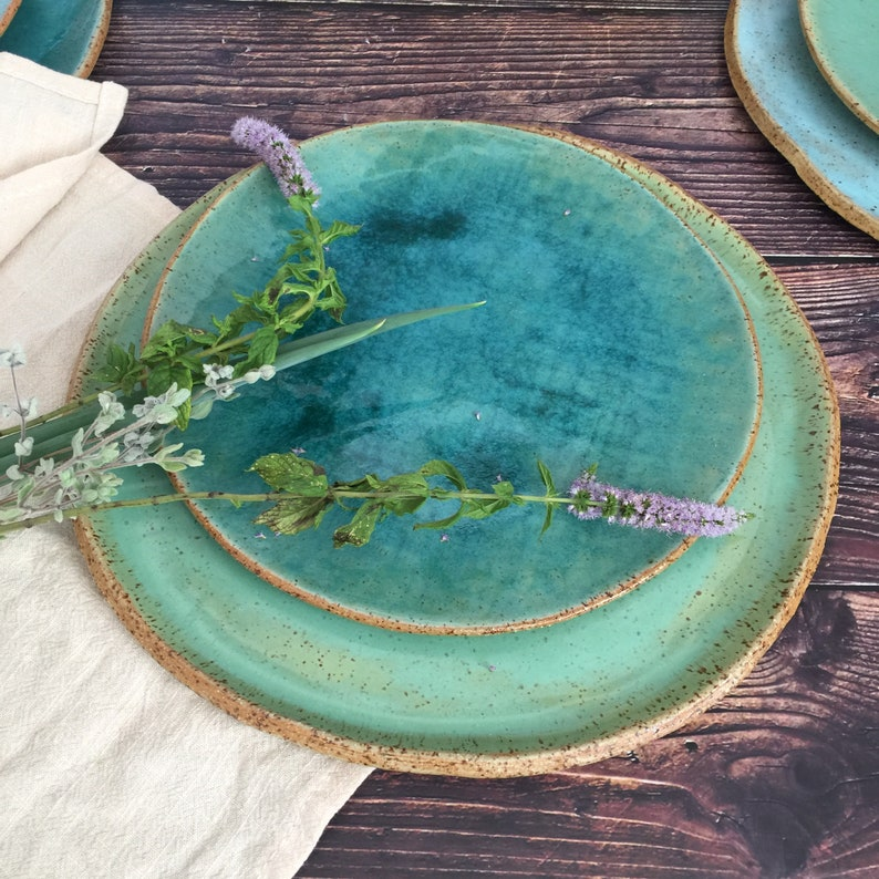 Rustic Dinnerware  Handmade Pottery Set of 2-pieces for One image 0