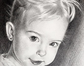 "Custom Pencil Portrait 8""x10"" drawing of people, pets, dogs, cats, children, parents. Various prices."