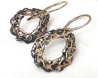 Crocheted Dew Drop Earrings