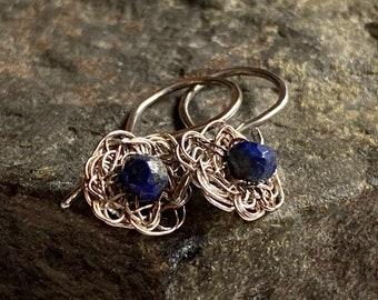 Tiny Flower Drop Earrings
