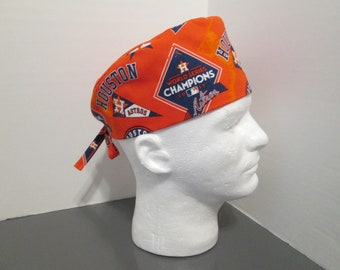 e3eecdd42ac Houston Astros World Series Champions on Orange Unisex Surgical Scrub Cap