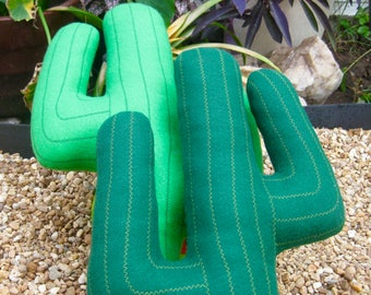 plush saguaro cactus pillow