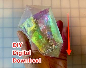 Infinity Crystal Gem -  DIY Iridescent Crystal PDF Download