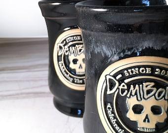 black skull coffee mug christmas gift for skull fanatics skull tea mug black skull mug skull gift goth gift