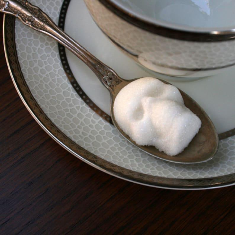 SKULL SUGAR CUBES Edible Sugar Skull Witchy Gifts image 0