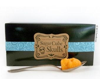 Dia De Los Muertos Bulk Colored Sugar Cubes // Rainbow Sugar Cube Skulls // mini sugar skulls // Valentine Skull Gift // Valentine Gift