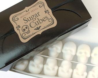 "SUGAR SKULL CUBES // Bulk Sugar Cubes Skulls // Skull Valentine // Gothic Valentine Gift // ""Coffee Gift"" // Nightmare Before Christmas Fan"